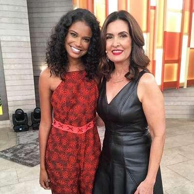 A protagonista da nova Malhação, Aline Dias, foi uma das convidadas do programa Encontro com Fátima Bernardes neste mês de setembro