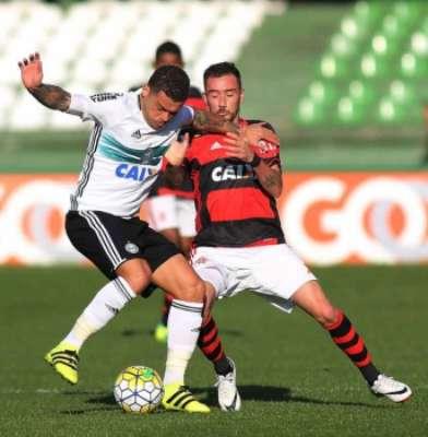 Último encontro: Coritiba 0x2 Flamengo (17ª rodada)