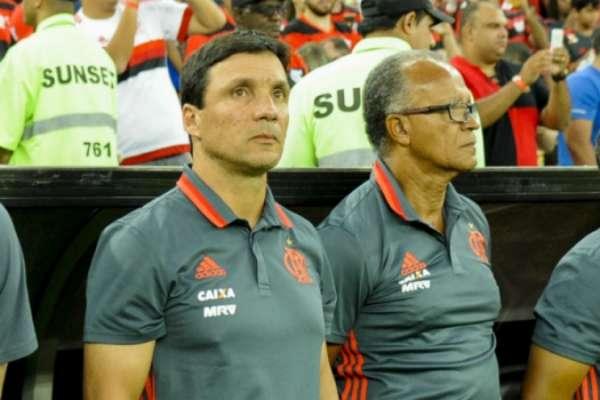 Zé Ricardo e o auxiliar técnico Jayme de Almeida