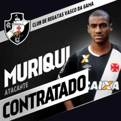 Muriqui foi o segundo reforço confirmado pelo Vasco para 2017