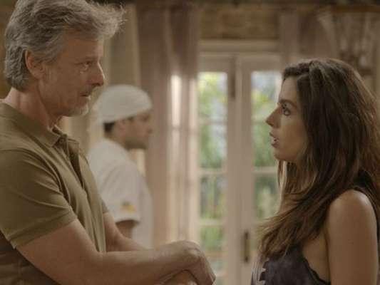 Milena (Giovanna Lancellotti) se enfurece com a mãe e pede que Vittorio (Marcello Novaes) dê um jeito de tirar Loretta (Claudia Ohana) de sua casa, na novela 'Sol Nascente', a partir de 11 de janeiro de 2017