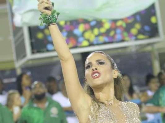 Wanessa arrasou em look com transparência no ensaio técnico da Mocidade para o carnaval, na Marquês de Sapucaí, na noite deste domingo, 22 de janeiro de 2017