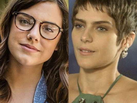Marina (Alice Wegmann) conta à Letícia (Isabella Santoni) ter beijado Tiago (Humberto Carrão) no hospital, na novela 'A Lei do Amor'