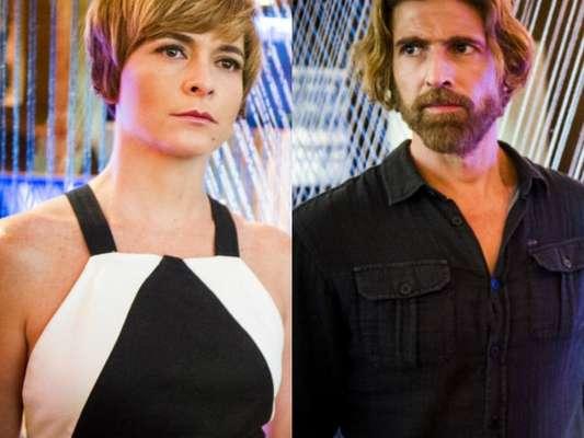 Na novela 'A Lei do Amor', Helô (Cláudia Abreu) flagra Pedro (Reynaldo Gianecchini) e Laura (Heloísa Jorge) na cama. 'Não vou conseguir perdoar'