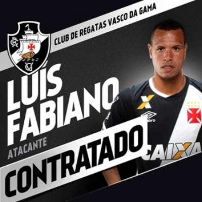 Vasco anunciou a contratação do atacante Luis Fabiano