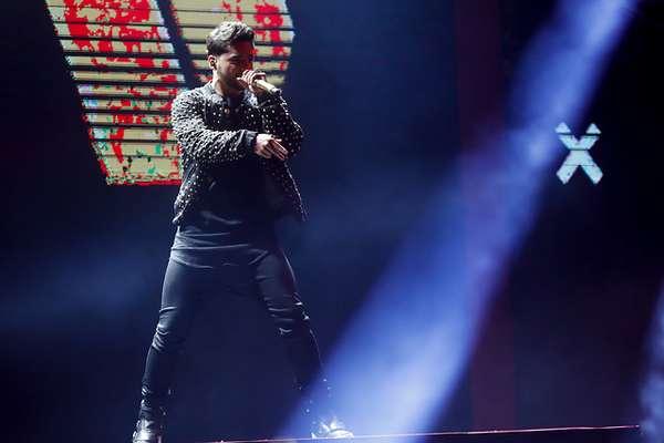 El cantante de reggaeton Maluma, durante la quinta noche de la 58º del Festival Internacional de la Canción de Viña del Mar 2017
