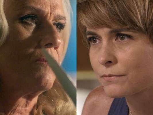 Mág (Vera Holtz) sequestra Helô (Claudia Abreu) após fugir da prisão, na novela 'A Lei do Amor', em 21 de março de 2017