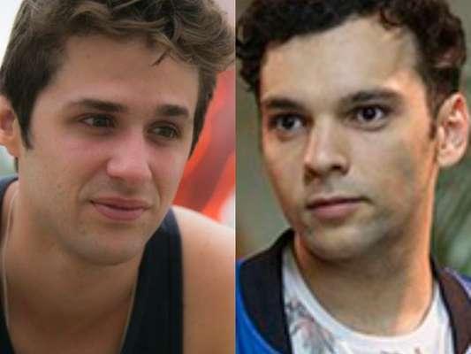 Wesley (Gil Coelho) e Gledson (Raphael Ganhem) ficam juntos no final da novela 'A Lei do Amor' após o filho do frentista engulir um botão da camisa do personal