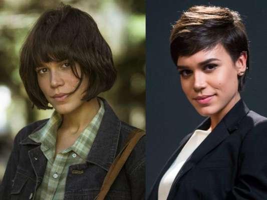 Carla Salle mudou o visual e adotou corte chanel com franja para viver a personagem Maria, de 'Os Dias Eram Assim'