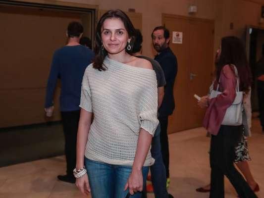 Monica Iozzi foi ao teatro em São Paulo neste sábado, 18 de março de 2017
