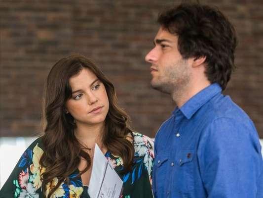 Alice Wegmann e Humberto Carrão vão gravar dois desfechos para seus personagens, na reta final da novela 'A Lei do Amor'