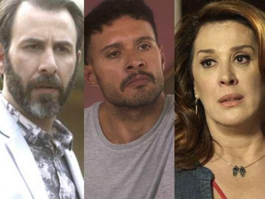 Hércules (Danilo Grangheia) contrata Fininho (Hugo Resende) para assassinar Salete (Claudia Raia), em 28 de março de 2017, nos últimos capítulos da novela 'A Lei do Amor'