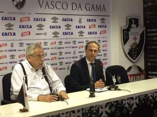 Milton Mendes foi anunciado oficialmente como novo técnico do Vasco nesta segunda-feira