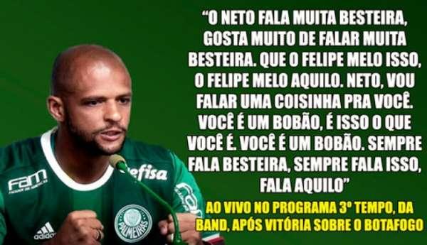 Felipe Melo e suas declarações polêmicas desde o retorno ao Brasil