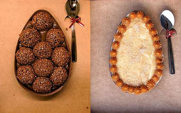 As mãos por trás dos doces artesanais da Pascó são as de Carolina Yamamoto. A produção começou no ano passado e é totalmente caseira - é ela quem faz todos os doces por encomenda sozinha. Para esta Páscoa, as opções de sabores dos ovos de colher são: Brigadeiro, Beijinho, Bicho de Pé, Churros e Amargo por R$ 45 cada; ou Ninho com Nutella, Oreo, Kinder, Rafaello e Ferrero Rocher por R$ 55 cada. Os ovos vêm no tamanho de 350g e podem ser encomendados pelo telefone (11) 99904-7392 ou pelo email docespasco@gmail.com.