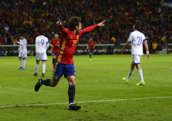 Veja imagens da vitória da Espanha