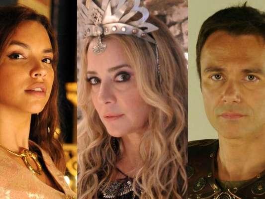 Shamiran (Gabriela Moreyra) flagra Sammu-Ramat (Christine Fernandes) e Nebuzaradã (Angelo Paes Leme) juntos, nos próximos capítulos da novela 'O Rico e Lázaro'