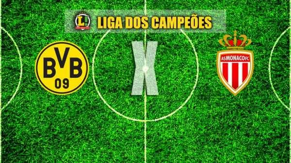 12/4 - 13h LIGA DOS CAMPEÕES - Borussia Dortmund e Monaco fazem duelo pelas quartas de final da Champions. Siga o tempo real do LANCE! e o EI Maxx transmite