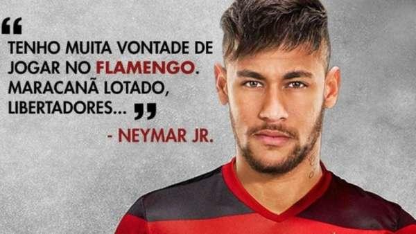 Flamenguistas se animaram com possível contratação de Neymar no futuro e já fizeram planos