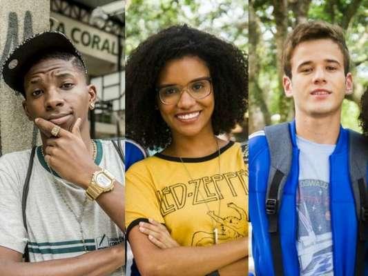 Em 'Malhação - Viva a Diferença', a hacker Ellen vai ser disputada pelo nerd Jota (Hall Mendes) e Fio (Lucas Penteado)