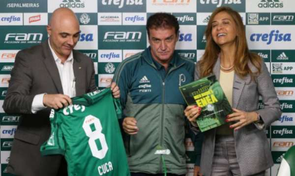 Maurício Galiotte chamou Leila Pereira para entregar livro a Cuca