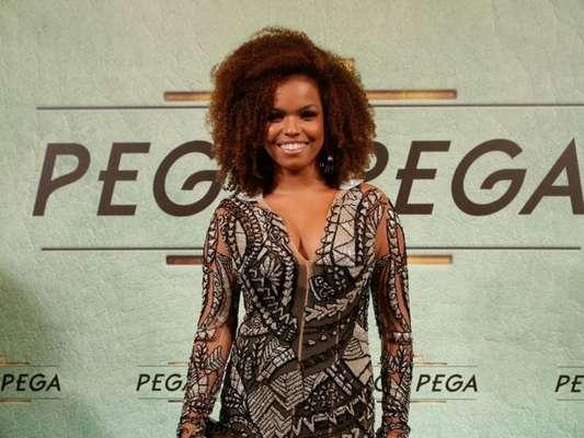 Jeniffer Nascimento na festa de lançamento da novela 'Pega Pega', nos Estúdios Globo, no Rio, nesta quinta-feira, 18 de maio de 2017