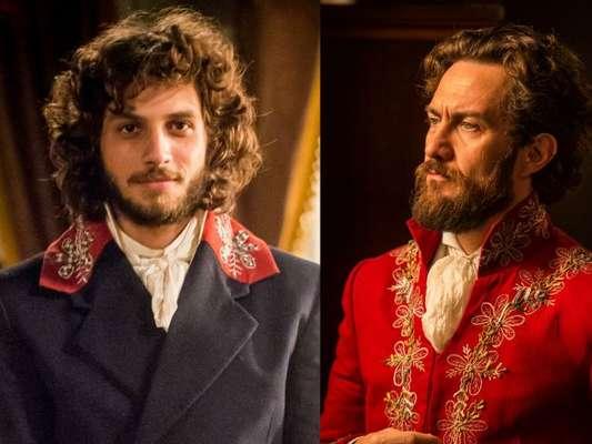 Joaquim (Chay Suede) Thomas (Gabriel Braga Nunes) na novela 'Novo Mundo'