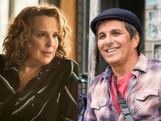 Néia (Ana Beatriz Nogueira) resolve reatar com Almir (Evandro Mesquita), em 20 de maio de 2017, na novela 'Rock Story'