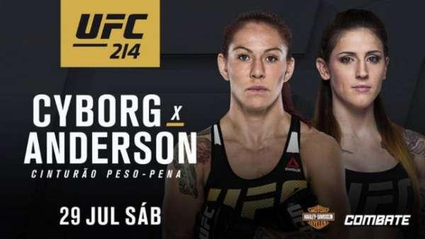 Cris Cyborg e Megan Anderson disputam o título no UFC 214