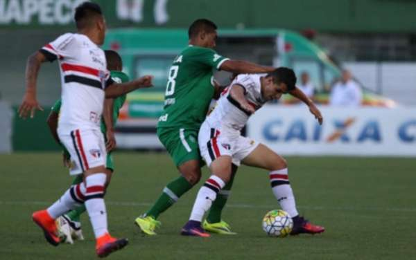 Último confronto: Chapecoense 2x0 São Paulo - 10/11/2016 - Brasileiro
