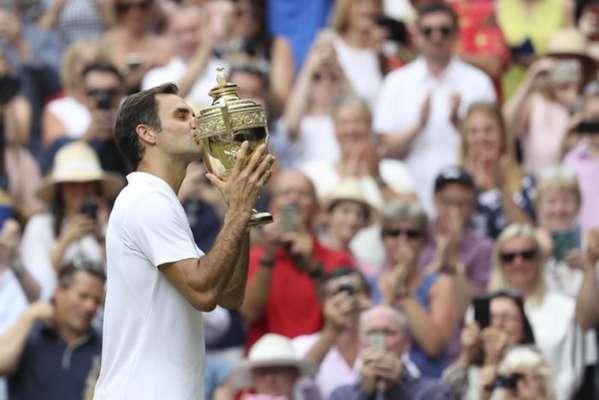 Roger Federer é o maior vencedor de Grand Slams do tênis e, neste domingo, tornou-se o maior campeão de Wimbledon ao conquistar seu 8º título em Londres.