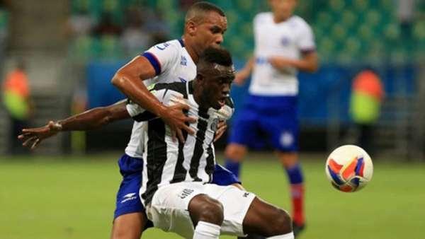 Último confronto: Santos 2 x 2 Bahia (23/01/2016) em um amistoso na Arena Fonte Nova
