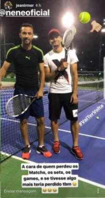 Jean e Nenê são amigos fora de campo e até jogaram tênis. Confira a seguir a galeria especial do LANCE!