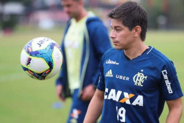 Conca em treino do Flamengo