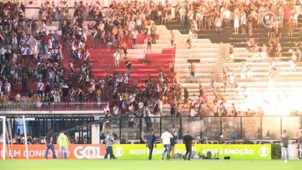 Veja a seguir na galeria especial do LANCE! imagens da confusão em São Januário em Vasco x Flamengo