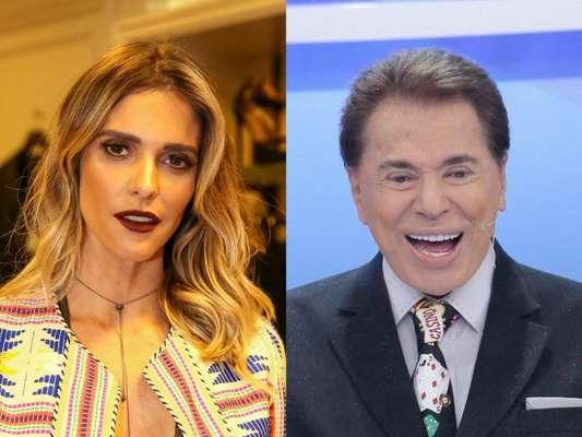 Fernanda Lima, chamada de 'magrela' por Silvio Santos, rebate em entrevista ao 'TV Fama' desta sexta-feira, dia 18 de agosto de 2017