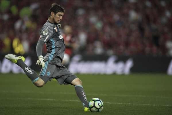 Thiago na final contra o Cruzeiro. Goleiro falhou em lance decisivo