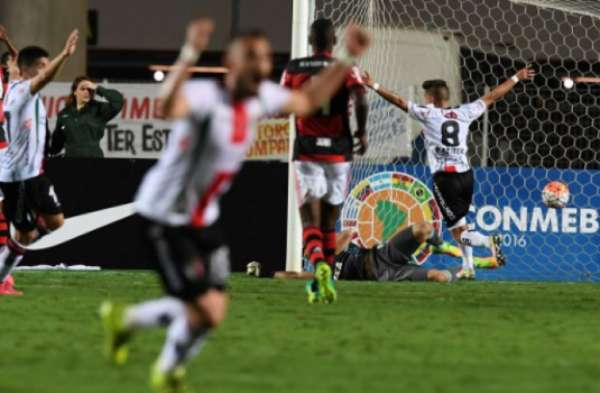 Em 2016, o Flamengo foi eliminado pelo Palestino nas oitavas de final da Sul-Americana
