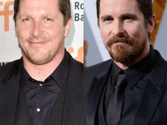 Christian Bale chamou atenção ao mostrar o novo visual após engordar para viver o o ex-vice presidente dos Estados Unidos Dick Cheney