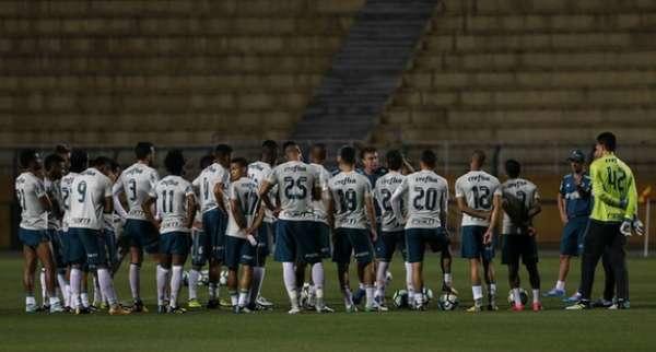 Treino do Palmeiras no Pacaembu