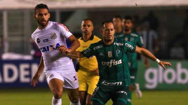 Palmeiras x Santos é o clássico regional da próxima rodada. Equipes ocupam o G4 do Brasileiro (Peixe em segundo com 44 e Verdão em quarto com 43) e ainda sonham com o título desta temporada