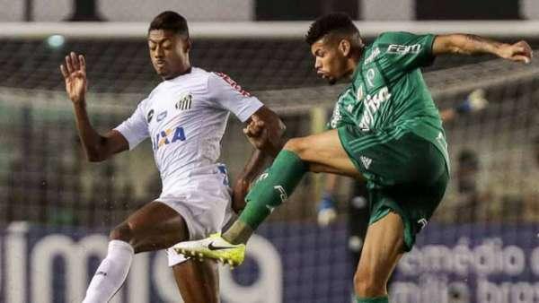 Último confronto: Santos 1 x 0 Palmeiras - Campeonato Brasileiro, na Vila Belmiro (14/06/2017)