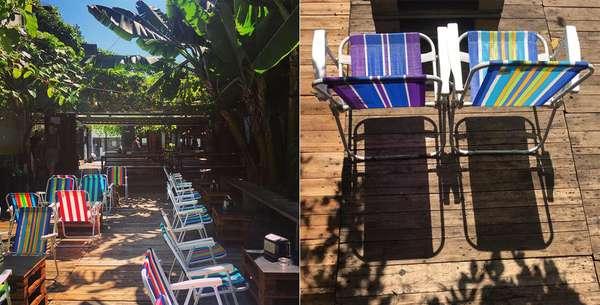 PITICOO Pitico, localizado em Pinheiros, é um bar com ambiente descolado e bem descontraído, feito a partir de estruturas de contêineres e acomodando os clientes em cadeiras de praia. O espaço é praticamente todo a céu aberto, rodeado de muitas árvores e um belo jardim. Nos dias mais quentes, um chuveirão faz às vezes da praia, que tanto falta na capital. O local abre ao meio-dia e vai até a meia-noite – do almoço ao happy hour! Endereço: R. Guaicuí, 61 - Pinheiros Horário de funcionamento: Segunda as 18h às 23h | Terça a domingo das 12h às 00h