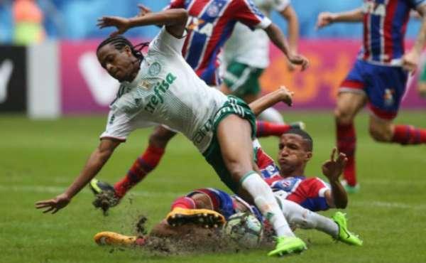 No primeiro turno, o Palmeiras bateu o Bahia por 4 a 2 fora de casa