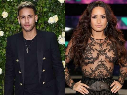 Neymar agitou a web após fazer uma tatuagem parecida com a de Demi Lovato