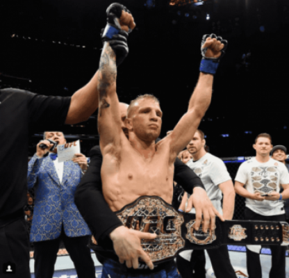 TJ Dillashaw recuperou o cinturão dos galos contra Cody Garbrandt no UFC 217
