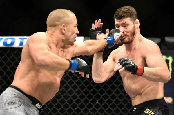 Georges Saint-Pierre finalizou Michael Bisping no UFC 217