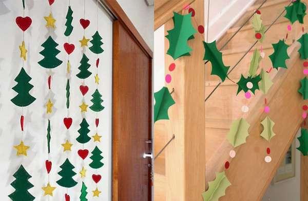 CORTINA NATALINAUma forma fácil de decorar a sua casa para o Natal é fazer cortinas festivas. A melhor parte é que elas podem ser feitas com cartolina mesmo, sendo um ótimo passatempo para quem tem criança e procura uma atividade diferente para fazer junto.