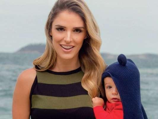 Rafa Brites comentou mudanças do corpo após a gravidez do filho, Rocco, de 9 meses: 'Ganhei estrias'