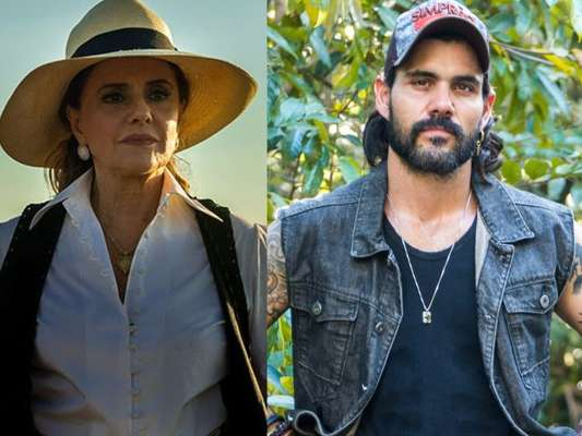 Sophia (Marieta Severo) e Mariano (Juliano Cazarré) transam após encontrarem as esmeraldas na mina das terras de Clara (Bianca Bin), na novela 'O Outro Lado do Paraíso'